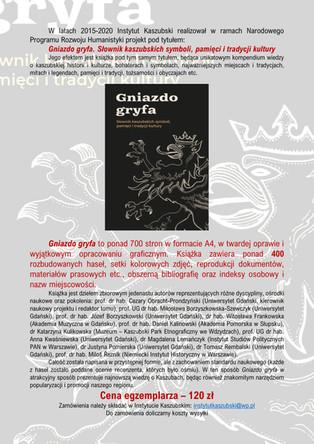 Gniazdo gryfa. Słownik kaszubskich symboli, pamięci i tradycji kultury