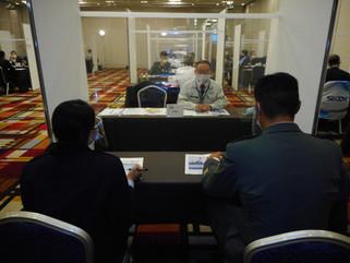 自衛隊の企業説明会に参加しました。