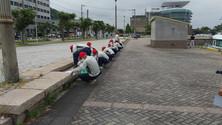 門司港レトロ地区 清掃ボランティアに参加いたしました。