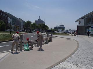 門司港レトロ地区清掃活動に参加致しました。