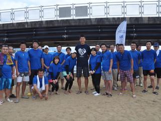 別府市のビーチバレーボール大会に参加いたしました