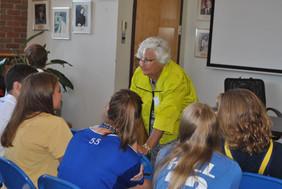 2016 DA Marie Huenefeld with students