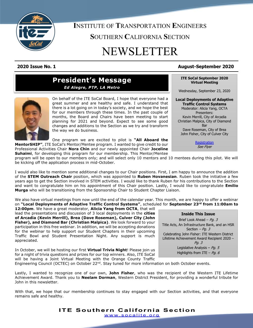 2020-09 - Newsletter - September 2020 IT