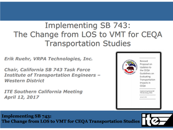April 12th Meeting – Implementing SB 743