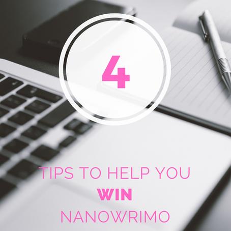 4 Tips to Help You Win NaNoWriMo
