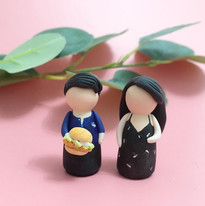 Customised Kokeshi Couple with a little