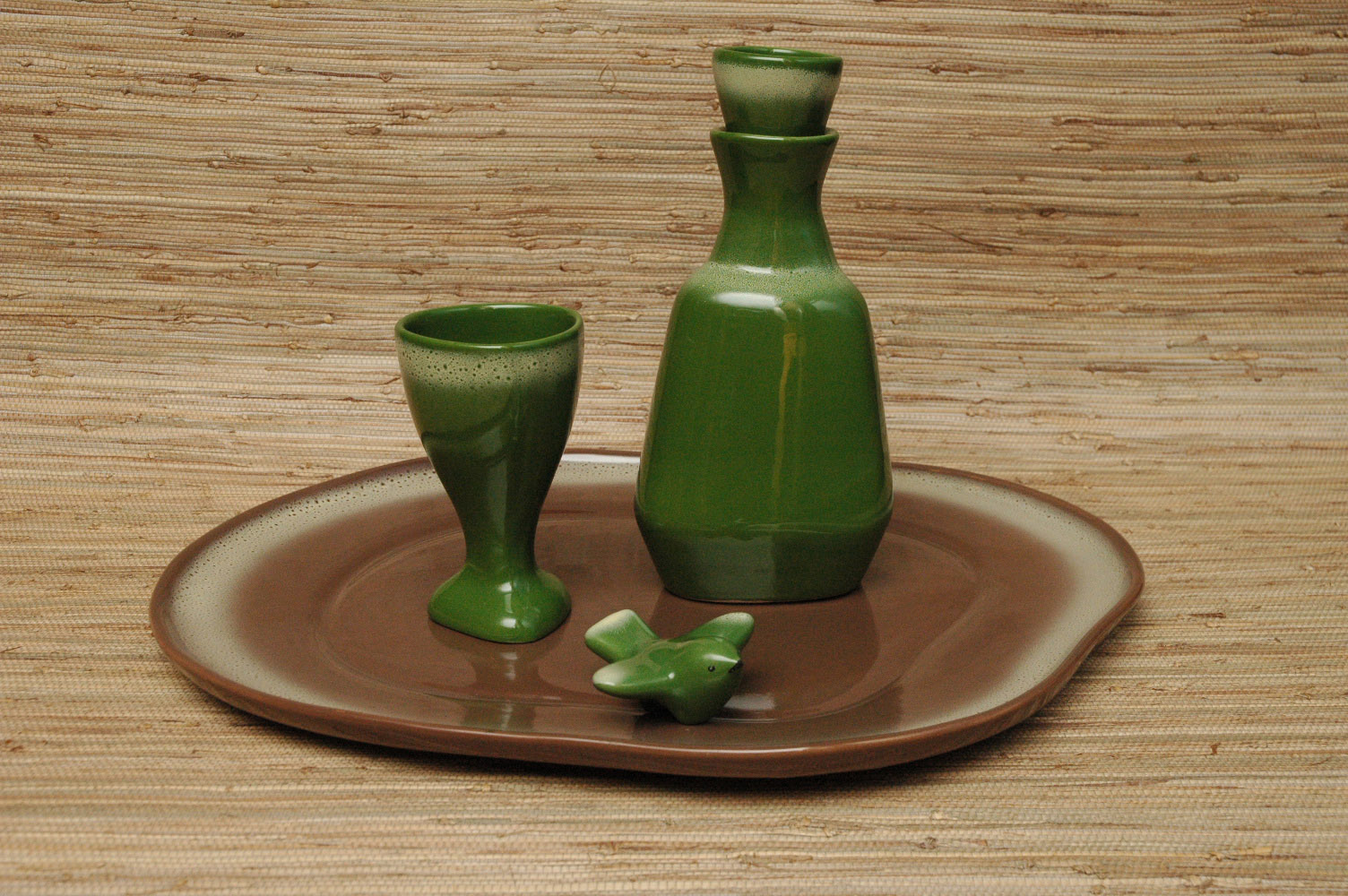 Wine goblet and decanter