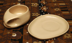 BBQ cup and saucer in honey