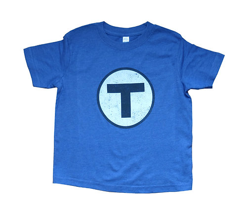 Boston MBTA Logo Blue Line t-shirt for toddlers