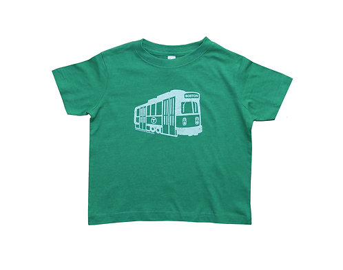 Toddler MBTA Green Line Trolley T-Shirt - Vintage Green