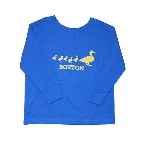Royal Blue Boston Ducklings Long Sleeve Shirt for Toddlers