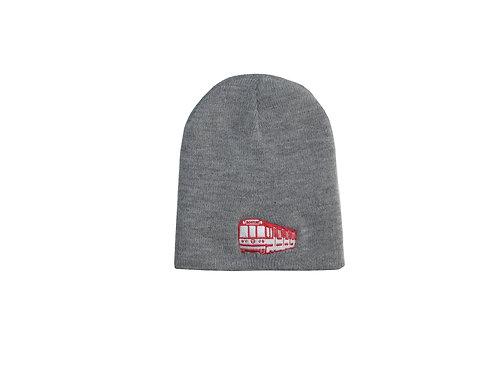 Kids Boston MBTA Embroidered Red Line Train Grey Beanie Hat