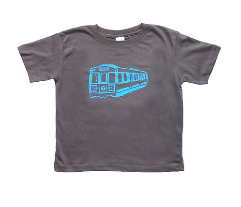Toddler MBTA Blue Line T-Shirt - Charcoal