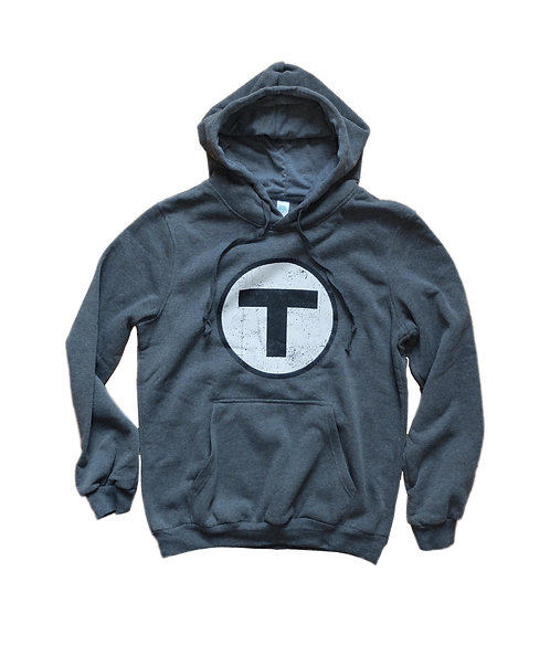 Charcoal MBTA Logo Hooded Sweatshirt