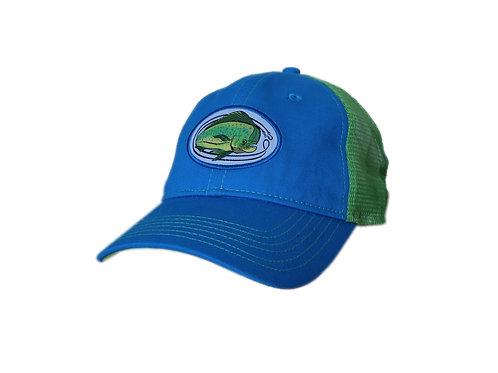 'Lemon Lime Mahi' Trucker Hat - Bright Blue / Lime