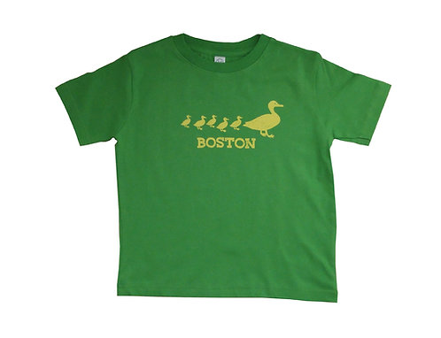 Toddler Boston Ducklings T-Shirt - Green