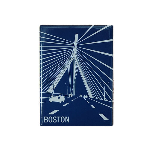 Boston Souvenir Magnet with Abstract Zakim Bridge Image