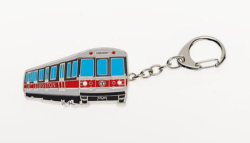 MBTA Metal Keychain - Red Line