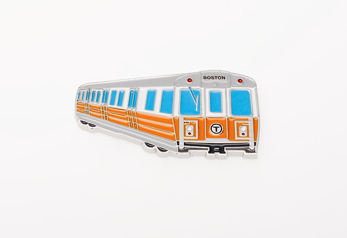 Boston MBTA Orange Line Train Metal Magnet Souvenir