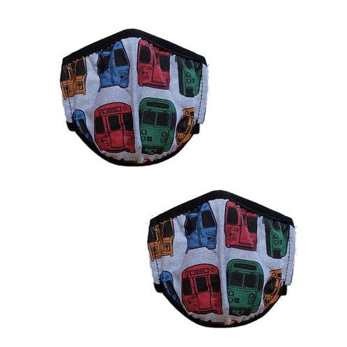 Boston MBTA Toddler Face Mask Bundle