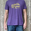 Man wearing purple Boston MBTA locomotive shirt