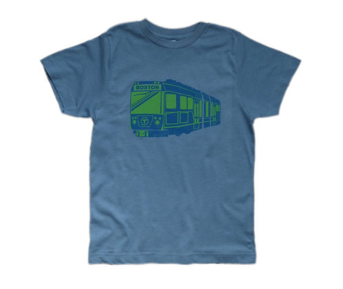 Youth New MBTA Green Line Trolley T-Shirt - Heather Indigo