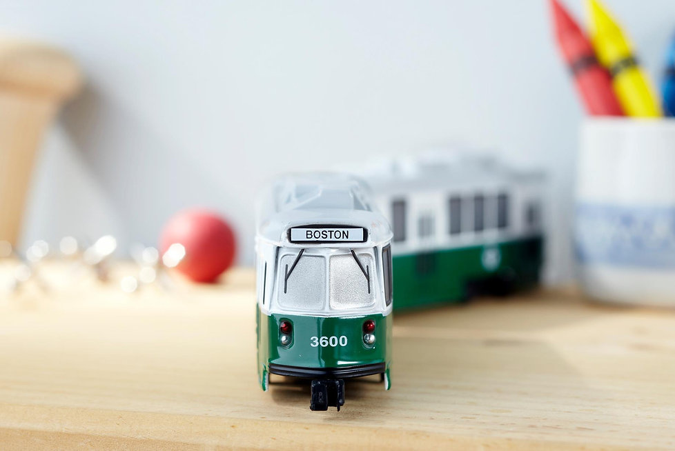 Green Line Trolley Toy
