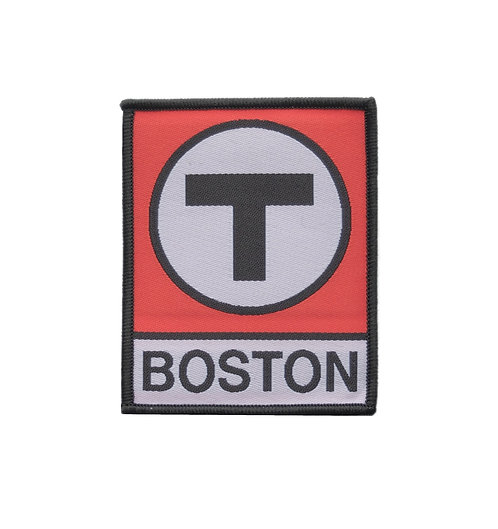 MBTA Red Line T Logo Iron-on Patch