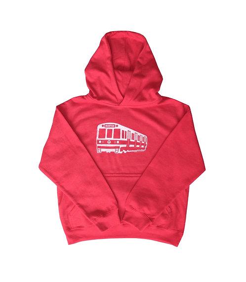 Youth MBTA Red Line Hoodie - Vintage Red