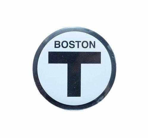 Boston MBTA T Logo Refrigerator Magnet Souvenir