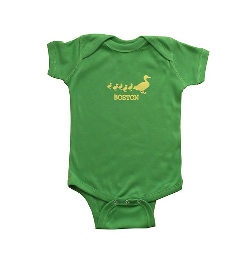 Apple green Boston Ducklings onesie | creeper for infants