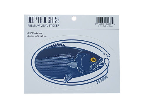 indoor / outdoor large bluefish vinyl sticker