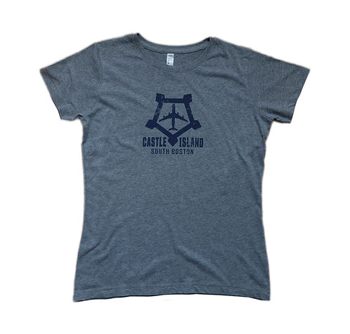 Women's Heather Grey South Boston Castle Island T-shirt