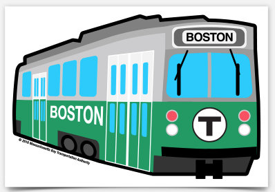 MBTA Vinyl Sticker - Green Line Trolley