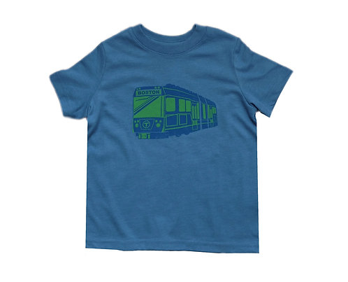Toddler New MBTA Green Line Trolley T-Shirt - Heather Indigo