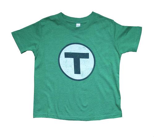Boston MBTA Logo Green Line t-shirt for toddlers