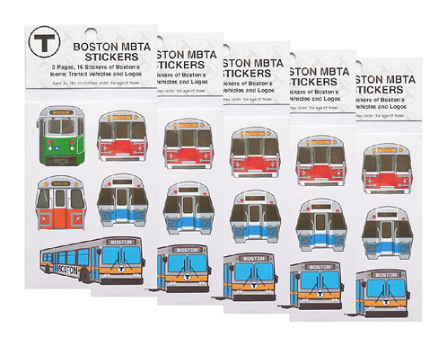 MBTA Sticker Five-Piece Party Pack