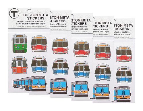Boston MBTA train and logo stickers value pack