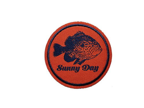orange and blue bluegill / sunfish sunny day patch