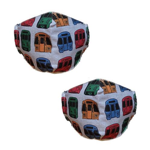 MBTA Adult Cotton Face Mask Bundle