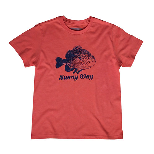 Youth size sunny day bluegill t-shirt