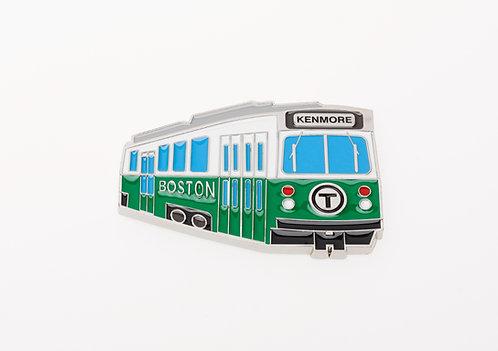 Boston MBTA Metal Green Line Trolley Magnet Souvenir