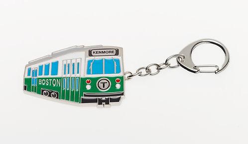 MBTA Metal Keychain - Green Line