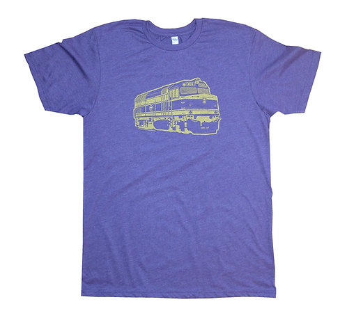 Heather Purple Adult Boston Commuter Rail Train T-shirt
