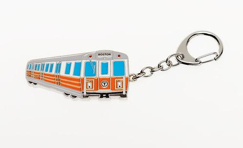 MBTA Metal Keychain - Orange Line