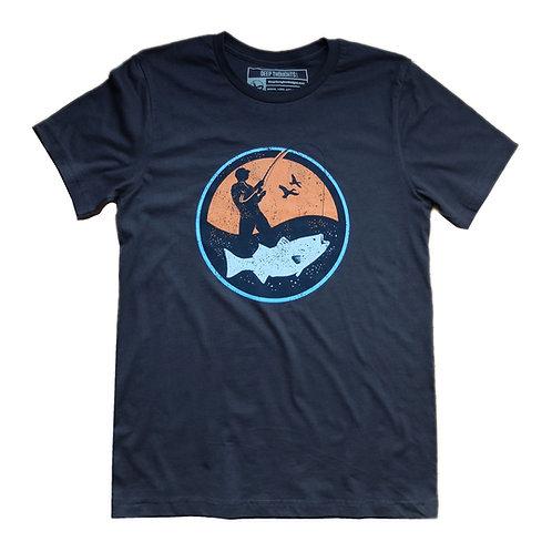 'Angler' T-Shirt - Dark Grey
