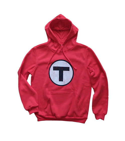 Red MBTA Logo Hooded Sweatshirt