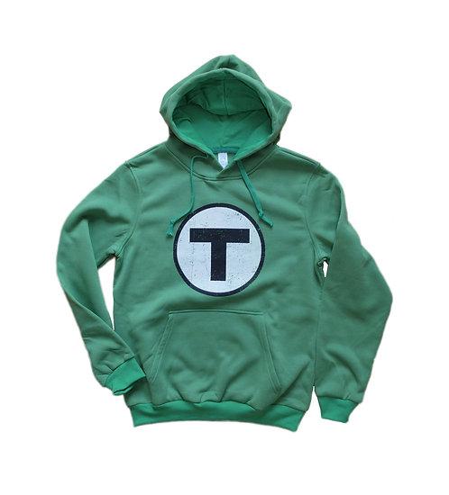 Adult T Logo Hoodie Sweatshirt - Green