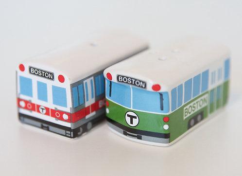 Cute Boston MBTA Salt and Pepper Shaker Set