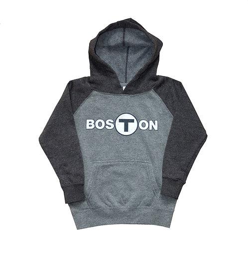 Toddler Boston T Logo Raglan Hoodie
